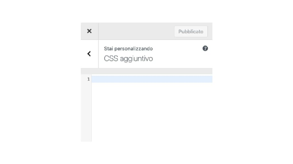 Come aggiungere CSS con il customizer di WordPress